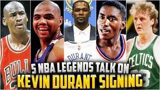 getlinkyoutube.com-5 NBA LEGENDS ON KEVIN DURANT SIGNING WITH THE WARRIORS!! Michael Jordan, Larry Bird + More!
