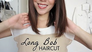 getlinkyoutube.com-Long Bob Haircut Tutorial! How to Cut Your Own Hair | LynSire
