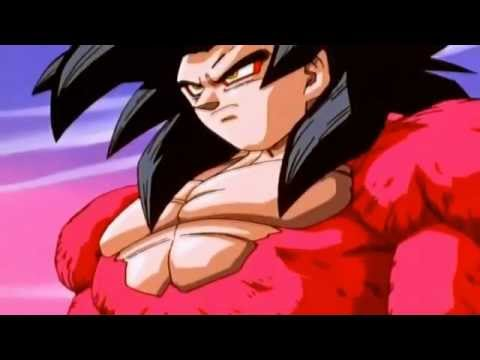 DBGT- Goku goes Super Saiyan 4 for the First Time! [HD]
