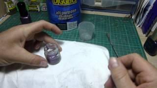getlinkyoutube.com-Gunpla Tutorial : Air Brushing with Nail Polish