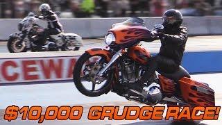 getlinkyoutube.com-$10,000 Harley Grudge Race - Turbo Street Glide vs Nitrous Street Glide
