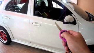 getlinkyoutube.com-Nissan March Push start and remote start from OEM key