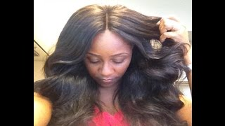 getlinkyoutube.com-Versatile & Natural Looking Sew In with Lace Closure | TUTORIAL