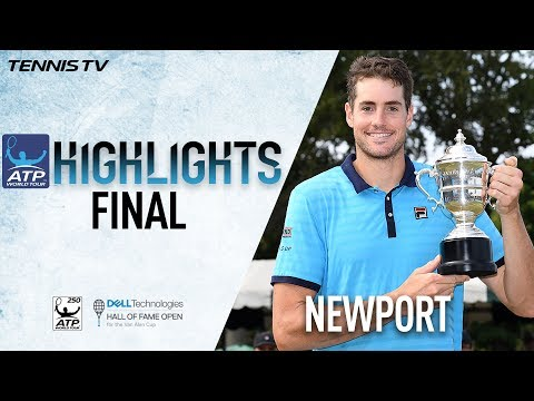 Isner Beats Ebden Newport 2017 Final Highlights