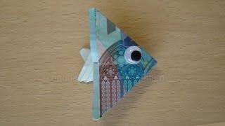 getlinkyoutube.com-Geldscheine falten Fisch