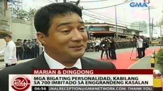 Mga bigating personalidad, kabilang sa 700 imbitado sa enggrandeng kasalan nina Marian at Dingdong