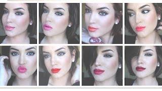 getlinkyoutube.com-NEW! Revlon Ultra Hd Lipstick ♡ REVIEW & TRY ON