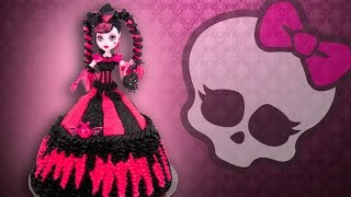 getlinkyoutube.com-Monster High Doll Cake from Cookies Cupcakes and Cardio