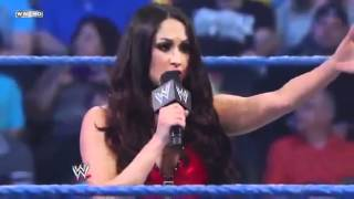 getlinkyoutube.com-Brie Bella for Team Laurinaitis  Nikki Bella for Team Teddy - WWE SmackDown
