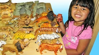 getlinkyoutube.com-Big Cats My Entire Collection Schleich Safari Kids Toys ZOO Wildlife