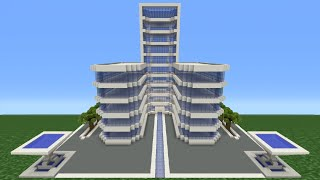 Minecraft Tutorial: How To Make A Modern Hotel -  3