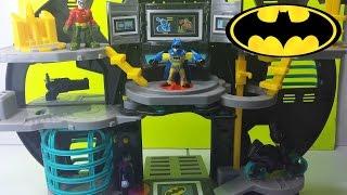 getlinkyoutube.com-Batman Batcave Imaginext DC Comics Super Friends Joker and Robin Bat Cave