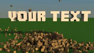 getlinkyoutube.com-Minecraft Cinema 4d House Explosion Intro (FREE DOWNLOAD)
