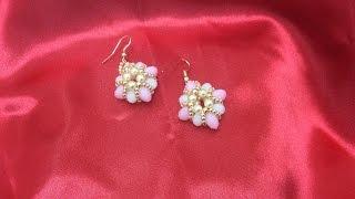 getlinkyoutube.com-Pendientes de bolas de Facetadas y Perlas