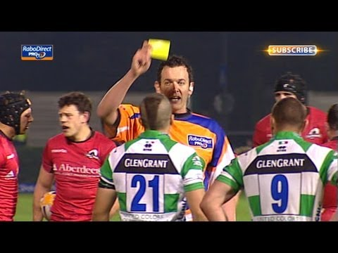 Edoardo Gori Gets Yellow for professional foul - Benetton Treviso v Edinburgh 19th Apr 2013
