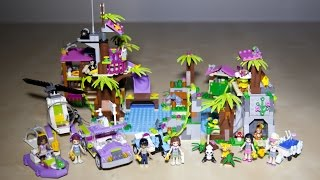 getlinkyoutube.com-Lego Friends 41038 Jungle Rescue Base with 41036 41033 and 41032 Speed Build