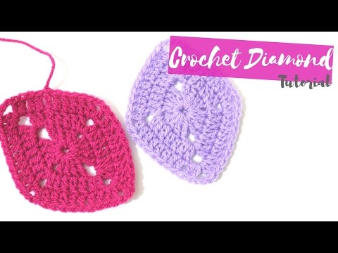 CROCHET: How to crochet a diamond | Bella Coco