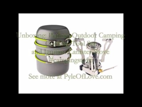 Unboxing: Petforu Outdoor Camping Cooking Tool Set and Ignition Canister Stove #campingstove