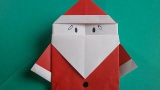 "getlinkyoutube.com-折り紙:サンタクロースの折り方(1枚) Origami""Santa Claus"""