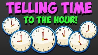 Telling Time - How to Read Clock to the Hour