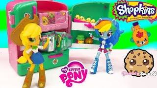 getlinkyoutube.com-MLP Rainbow Dash & AppleJack Unboxing Shopkins Season 4 & 3 Surprise Blind Bags - Toy Video