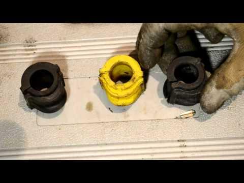 Какие ставить втулки стабилизатора - полиуретан, аналог или оригинал, замена на примере Nissan
