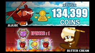getlinkyoutube.com-CookieRun 134,399 Coins เก็บเหรียญด้วยสมบัติกระบองทอง+ไดนาไมท์ 2 ชิ้น | xBiGx