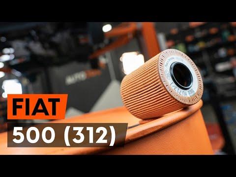 Как заменить моторное масло и масляный фильтр на FIAT 500 (312) (ВИДЕОУРОК AUTODOC)