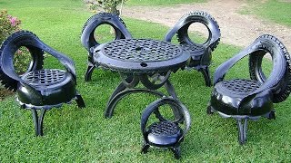 getlinkyoutube.com-ARTESANATO COM PNEUS - GRANDES IDÉIAS (crafts with tires and big ideas)