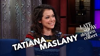 getlinkyoutube.com-Tatiana Maslany's Weird Interaction At A Naked All-Women Spa