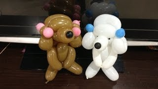 getlinkyoutube.com-造型氣球 貴賓狗 poodle dog balloon twisting