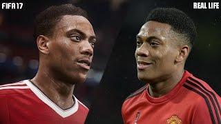 FIFA 17 vs Real Life - Faces comparison |Martial - Mourinho - Hazard & more| 1080p by Pirelli7