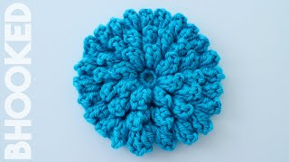 How to Crochet a Flower: Crochet Popcorn Stitch Flower Free Pattern