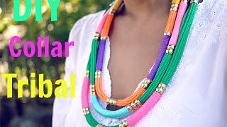 getlinkyoutube.com-DIY collar tribal