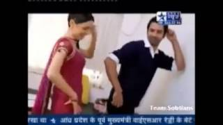 getlinkyoutube.com-Barun Sobti and Sanaya Irani off screen masti...TS gift on 2nd Anniversary