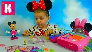 Минни Маус Дисней кассовый аппарат и яйца сюрприз распаковка игрушек Minnie Mouse toys