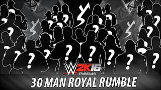 WWE 2K16 - 30 MAN ROYAL RUMBLE - OLD SCHOOL EDITION | PS4 Gameplay