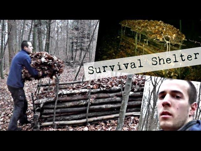 Überlebenstraining - Unterkunft für kalte Nächte ohne Feuer