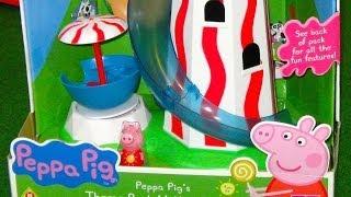 getlinkyoutube.com-Peppa Pig Parque de Atracciones del Tobogán Espiral - Juguetes de Peppa Pig