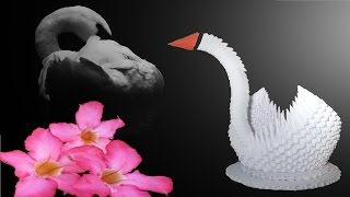 getlinkyoutube.com-3D Origami Schwan Tutorial (Deutsch) - 3D origami swan tutorial