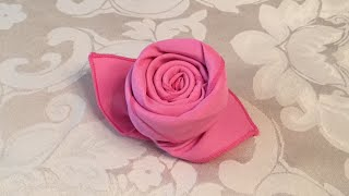 getlinkyoutube.com-How to Fold a Cloth Napkin into a Rose in 72 Seconds