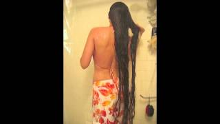"getlinkyoutube.com-Wash and Condition 57"" Inches of Long Hair"