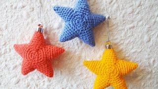 getlinkyoutube.com-Новогодняя звезда Christmas starlet Crochet