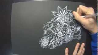 getlinkyoutube.com-Noah's Zentangle drawing (1/3)