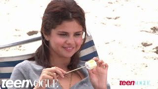 Selena Gomez on the set of her Teen Vogue photo shoot