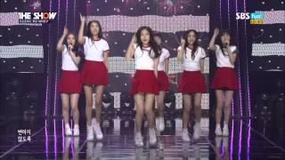 "getlinkyoutube.com-Live HD | 150120 여자친구 ""하얀마음 (White) & 유리구슬 (Glass Bead)"" (Debut Stage) @ SBS MTV 더 쇼"