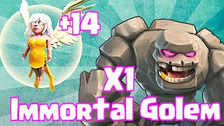 getlinkyoutube.com-Clash Of Clans 1 GOLEM + 14 HEALERS (Immortal Golem)