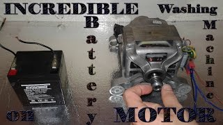 Incredible washing machine motor on battery!