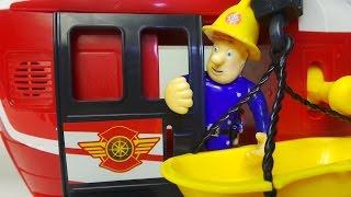 getlinkyoutube.com-FIREMAN SAM FLYS IN TOYSRUS FAST LANE RESCUE HELICOPTER