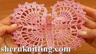 getlinkyoutube.com-Crochet Large Butterfly Step-by-Step Tutorial 13 Free Crochet Butterfly Pattern